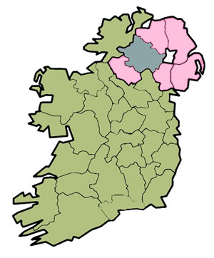 Map of County Tyrone, Ireland